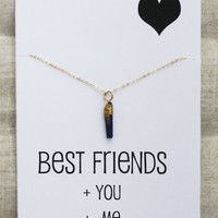 Best Friends Stone Pendant Unisex Cool Natural Necklace