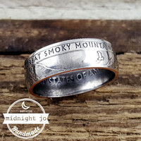Great Smoky Mountains National Park Quarter Coin Ring