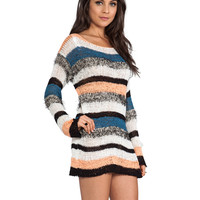 MINKPINK Wild In The Wind Tunic Knit in White