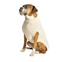Natural Cable - Chilly Dog Sweaters