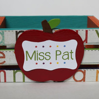 Custom Handmade Teacher Crate for Classroom, Office or Home!