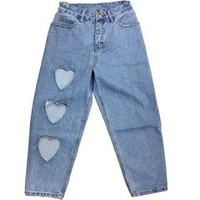 Heart Cut Out Jeans