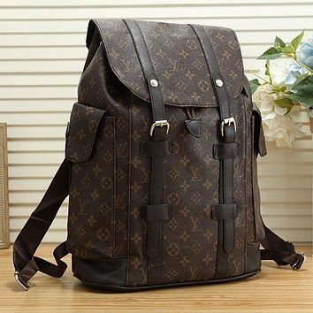 Louis Vuitton LV Large Capacity Backpack Travel Bag for Men and Women