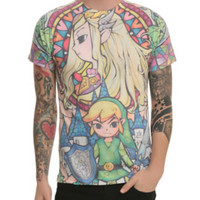 The Legend Of Zelda Stained Glass Sublimation T-Shirt