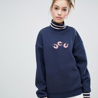 Lazy Oaf prawn roll neck sweater at asos.com