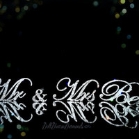 """Exquisite Diamond  Mr & Mrs. """"last name"""" Wedding Reception Cake Table, Head Table, Gift/Card Table"""