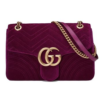 Gucci Marmont Fushia Medium Bag