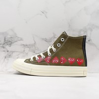 Comme Des Garcons Play X Chuck 70 High Top Multi Heart Cdg Sneakers - Best Online Sale