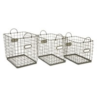 IMAX Newbridge Wire Storage Baskets - Set of 3 | www.hayneedle.com