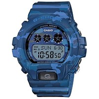 Casio Womens G-Shock S Series - Blue Dial - Blue Camo Resin Case and Strap