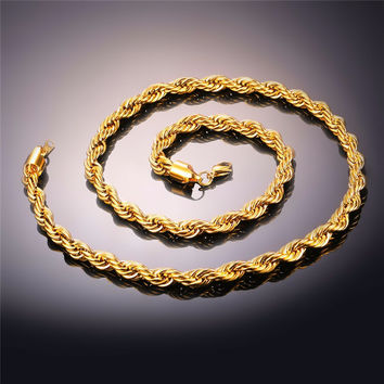 Premium Gold Plated Rope Chain