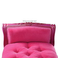 Fabulous & Baroque — Isadora French Upholstered Bench - Fuchsia