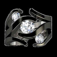 AMAZING 2.55CT WHITE ROUND 925 STERLING SILVER ENGAGEMENT AND WEDDING BAND