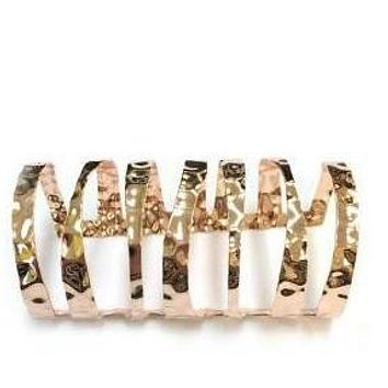ROSE GOLD POLISHED METAL CUTOUT CUFF BANGLE