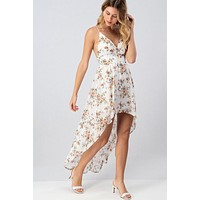 Full Bloom High Low Dress (Ivory)