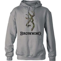Browning Men's Mossy Oak Obsession Camo Buckmark Hoodie Sweatshirt