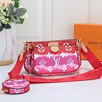 LOUIS VUITTON Rainbow Bag LV Women Shoulder Bag Three Suit Crossbody Bag