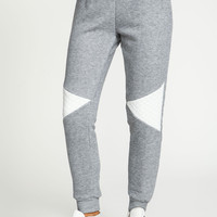 Quilted Panel Jogger Sweats