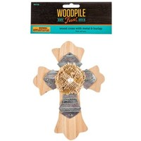 Wooden Cross with Metal & Burlap | Shop Hobby Lobby