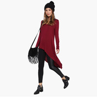 Dovetail Long T-Shirt with Slit