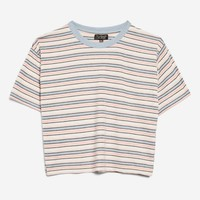 Multi Stripe Boxy T-Shirt | Topshop