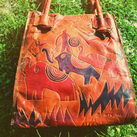 Jungle Song 90's AFRICAN SAFARI Tooled Leather by bonetoothantler