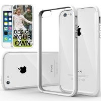 iPhone 5C Case, Caseology® [Fusion Series] Scratch-Resistant Clearback Cover [White] [Dual Bumper] for Apple iPhone 5C - White