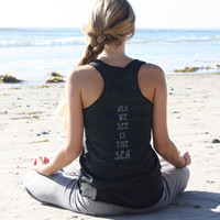 all we see is the sea eco racerback tank by TenThings