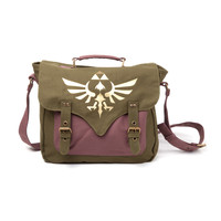 Nintendo - Legend of Zelda Green Canvas Messenger Bag