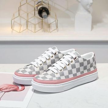 LV Louis Vuitton OFFICE QUALITY Women's Leather Sneakers Shoes