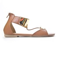 Brown & Gold Troy Sandals
