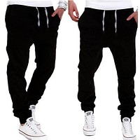 Fashion Mens Casual Trousers Sweatpants Harem Pants Slacks Casual Jogger Dance Sportwear Baggy Men Autumn Loose Long Pant M-3XL