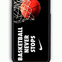 iPhone 6 Case - Rubber (TPU) Cover with nike basketball 2 Rubber Case Design