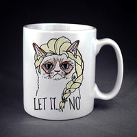Grumpy Elsa Let It Go Personalized mug/cup
