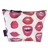 Sexy Red Lips T Bottom Cosmetic Bag