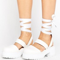 ASOS OBLONG Wide Fit Chunky Heels at asos.com
