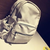 Vintage Leather Vintage Backpack Daypack School Bag