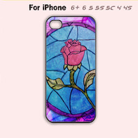 Beauty and Beast Flower Phone Case For iPhone7 7S 7 7Splus iPhone 6 Plus For iPhone 6 For iPhone 5/5S For iPhone 4/4S For iPhone 5C-5 Colors Available