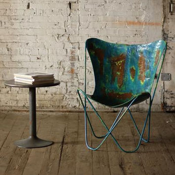 Iron Butterfly Chair - Distressed Blue
