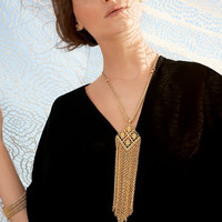 Tasseled Diamond Chain Necklace