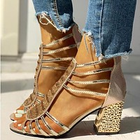 Woman Style Wedges Pumps High Heels Slip on Fashion Gladiator Shoes Women Shoes