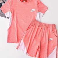 Copy of NIKE Hot Sale Contrast Show Body Sports Two Piece Suit Summer Suit B-AA-XDD Pink
