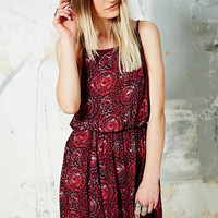 Ecote Gabriel Crochet Dress in Red - Urban Outfitters