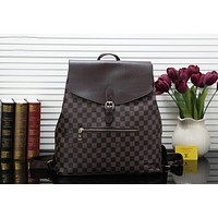 LV 2019 new classic old flower men's casual sports travel bag Coffee check