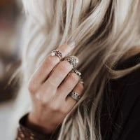 Silver Skies Ring Set