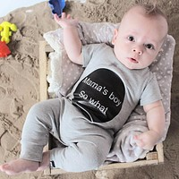 Baby Rompers Summer Style Mama's Boy Baby Boy Girl Clothing born Infant Short Sleeve Clothes