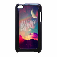 Perks Of A Wall Flower Quote Design Vintage Retro iPod Touch 4th Generation Case