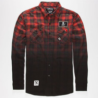 Neff Disney Villains The Captain Mens Flannel Shirt Red  In Sizes