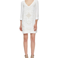 Women's Embroidered Woven Dress, Summer White - French Connection - Summer white