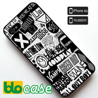 Rock Band Logo Iphone 4s Rubber Case